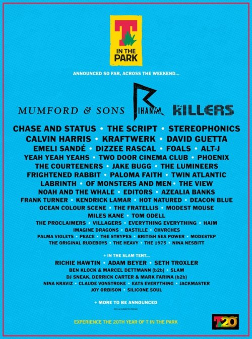 T In The Park Lineup