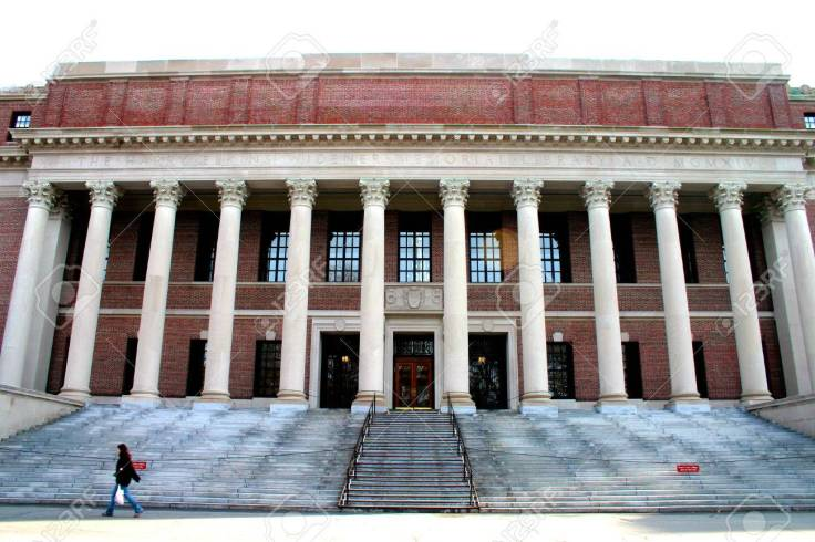 Widener Memorial Library at Harvard University, Cambridge, Massachusetts